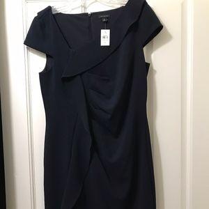 Ann Taylor Ruffled Sheath Dress